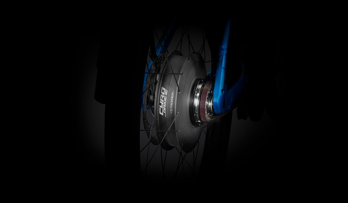 Stromer ST2 rear-wheel motor with assistance up to 45 km/h (28 mph).