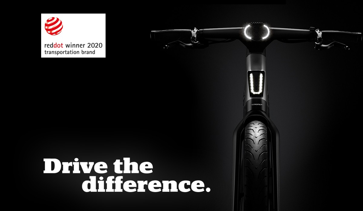 With its brand management, Stromer has won the Red Dot Award 2020 in the category Brands & Communication Design.