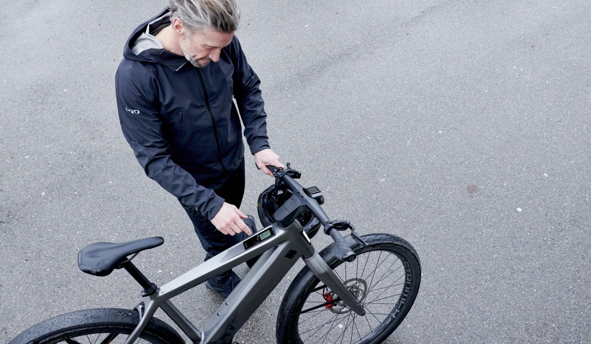 Fast e-bike with triple anti-theft protection: the Stromer ST5 ABS.