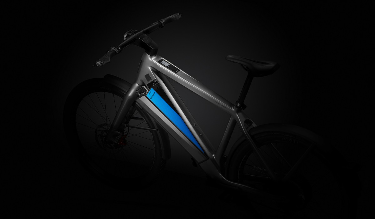 The strongest Stromer battery with a range of up to 180 km.